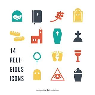 Silhouette von religiösen Symbolen