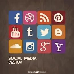 Social-Media-freien Vektor