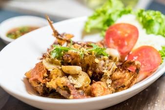 Soft Shell Crab mit Chili-Salz