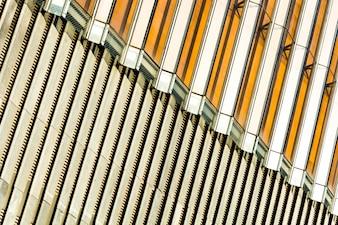 Solar erneuerbare mit Blick auf Elektrizität Pylon Sonnenlicht
