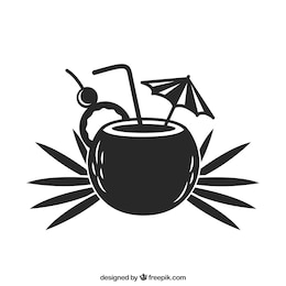 Sommer-Cocktail-Symbol