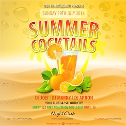 Sommer Orangensaft trinken Vektor