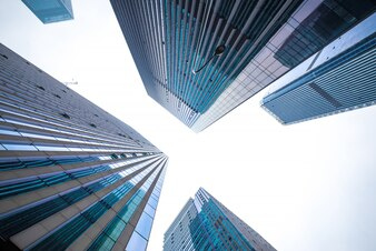 Sonne Gebäude usa Bodenwinkel