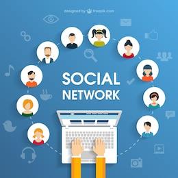Soziale Netzwerk-Konzept