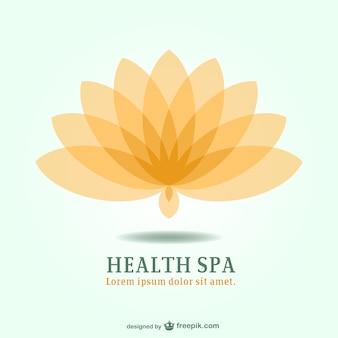Spa-Resort Lotus Emblem Logo
