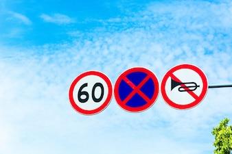 Speed Limit Zone Warnung Verkehrsschild