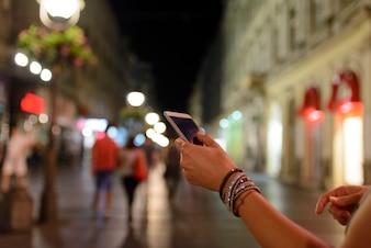 Stadt Frau SMS