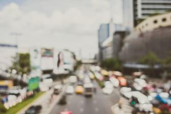Stadt mit einem Überschuss von Autos
