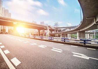 Stadtansicht von der Autobahn