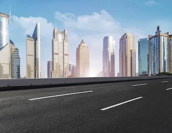 Stadtbild hohe konkrete städtische schöne Oberfläche