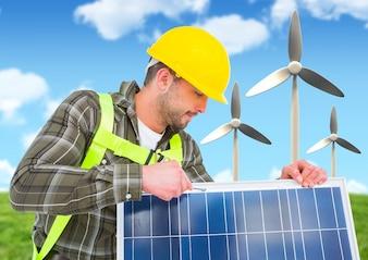 Stromversorgung Landschaft friedlichen Schutz Installation