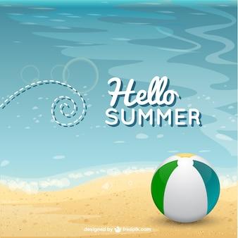 Sommer-Strand Hintergrund Vektor