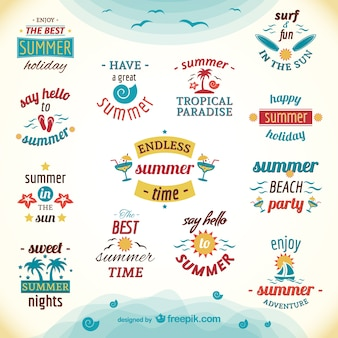 Sommerferien Etiketten