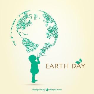 Tag der Erde-Illustration