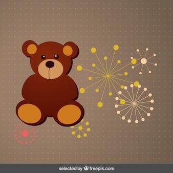 Teddybär mit Feuerwerk
