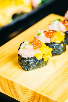 Thunfischküche Meeresfrüchte roh otoro