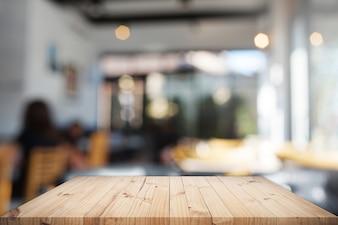 Tischplatte mit Hintergrund