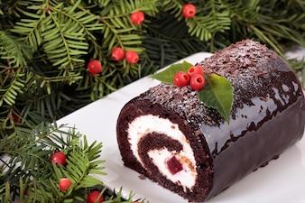 Traditionelle Weihnachten Yule Kuchen