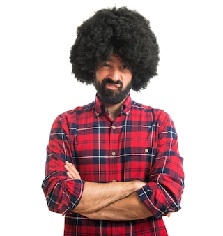 Trauriger Afro-Mann