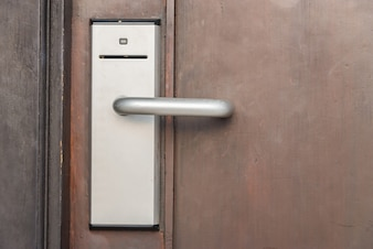 Tür mit Zugangssystem