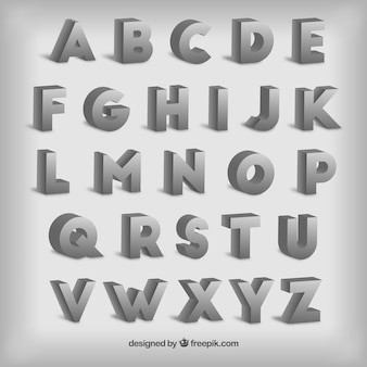 Typografie in 3D-Stil