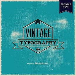 Typografie Vektor-Retro-Poster