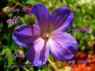 überlasse es Gott