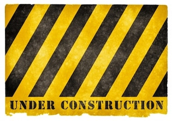 Under construction grunge Zeichen