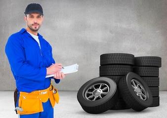 Uniform männlich Elektriker blau Arbeits