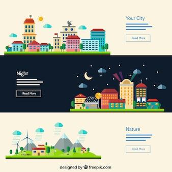 Städtische Landschaft Banner