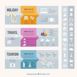 Urlaub reisen Infografik