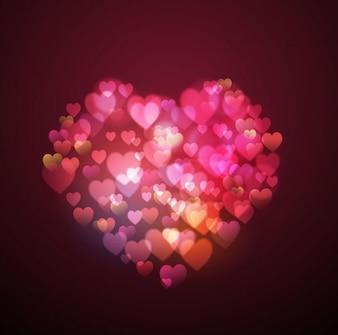 Valentine Herzen geformt Vektor-Hintergrund