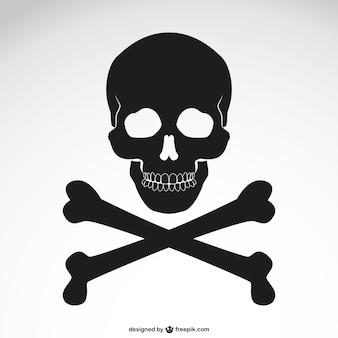 Vektor gekreuzten Knochen Schädel Symbol