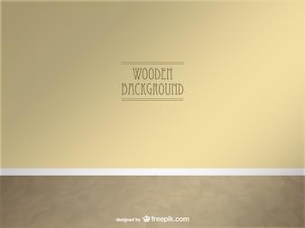 Vektor Holz 3D-Raum realistischen Design