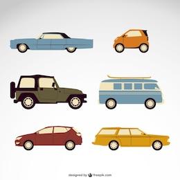 Vektor-Autos kostenlos Pack