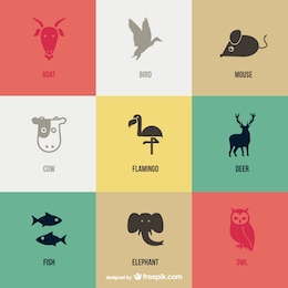 Vektor Tier Piktogramme