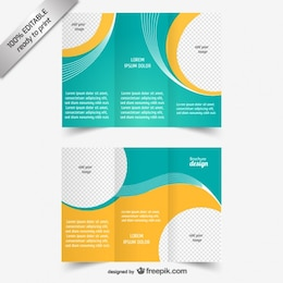 Vektor-tri-fach Broschüre Vorlage