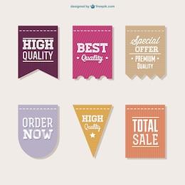 Vektor Verkauf Etiketten-Sammlung