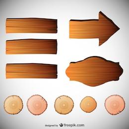 Vektor-Zeichen mit Holz Textur