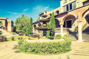 Venedig-Haus italienische bunte schmale