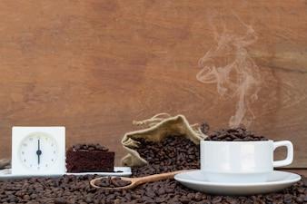 Verrückt in der Liebe mit Kaffee