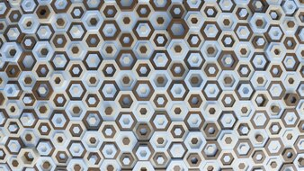 Verschiedene farbige Hexagone