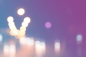 Verschwommene Licht auf der Straße in der Stadt mit Bokeh abstrakten Hintergrund