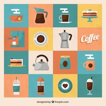 Vielzahl der Kaffee Symbole