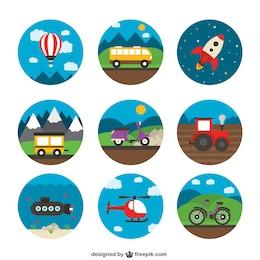 Vielzahl von Transport-Icons