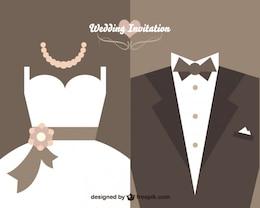 Vintage-Hochzeitseinladung Vektor-Design