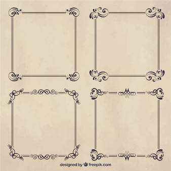 Vintage-Rahmen in ornamentalen Stil