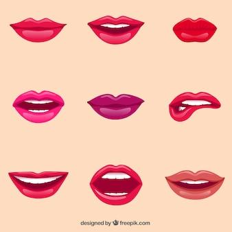 Weibliche Lippen