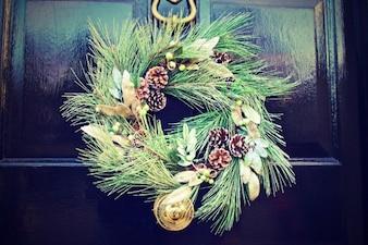 Weihnachten Tür Dekoration