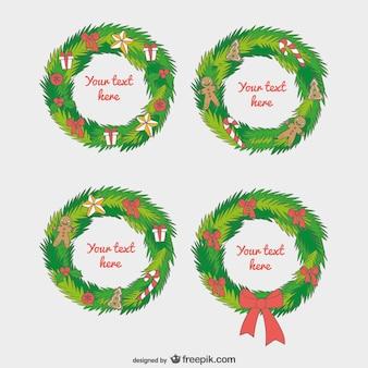 Weihnachtsgirlande Vorlagen